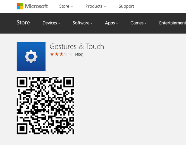 gestures & touch qr